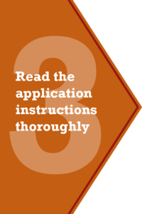 Step 3 - Read the application instructions thoroughly